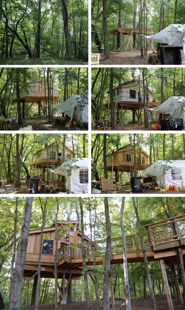 flint welcomes the treehouse masters crew
